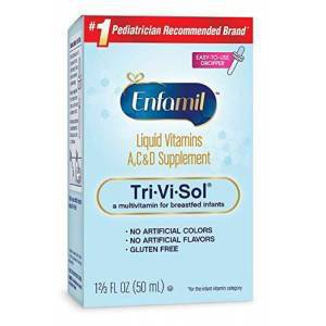 Enfamil Tri-Vi-Sol Liquid Vitamins A C  D Supplement Bebekler icin