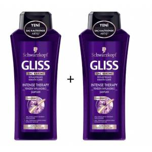 Gliss Intense Therapy Şampuan 400 ml  2 Adet