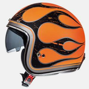 Mt Kask Mt Le Mans Flaming Gloss Flour Orange Yarım Kask