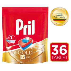 Pril Gold Bulaşık Makinesi Tableti 36lı Mix 2 li