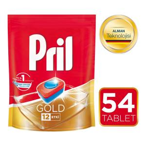 Pril Gold Bulaşık Makinesi Tableti 54lü Mix 2 li