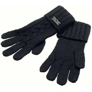 PUMA CABLE KNİT GLOVES SİYAH KADIN ELDİVEN 040417-01