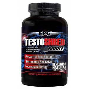 EPG Testoshred - 120 Capsules Natural Testosterone BOOSTER Powerful ÜCRETSİZ KARGO