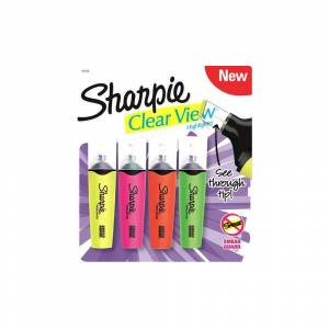 Sharpie ClearView Fosforlu 4Lü 1953450