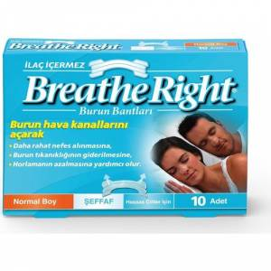 Breathe Right Burun Bandı Şeffaf Normal Boy 10lu