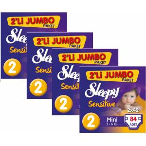 Sleepy 2 No Mini Jumbo (3-6kg) 4 lü Pk 84x4336 Adet
