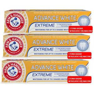 Arm and Hammer Advance White Extreme Whitening 3 TONA KADAR 75ml X 3 Adet