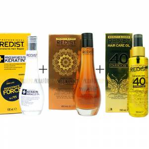 REDİST 40 SAÇ BAKIM YAĞI 150MLREDİST ARGAN YAĞI 100ML.REDİST KERATİN YAĞI 100ML. SET