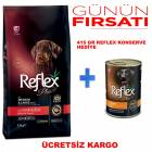 Reflex Plus Puppy Medium & Large Kuzu Etli ve Pirinçli 15 kg