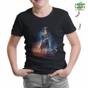 Assassins Creed - Syndicate Siyah Çocuk Tshirt