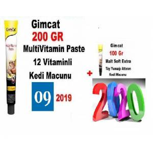 GimCat MultiVitamin Paste 200 Gr  Gimcat Malt Paste 100 Gr