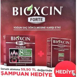 Bioxcin Forte Serum 3x30mm ve Forte Şampuan Set