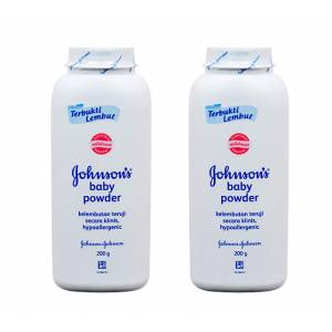 2 ADET Johnsons Baby Powder Pudra 200 Gram