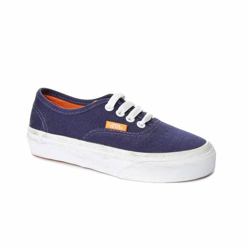 Ayakkabi Erkek Çocuk Vans VUR8BZO AUTHENTIC (POP) PATRIOT BLUE/SUN ORANGE
