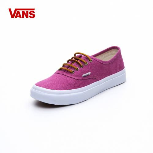 Ayakkabi Kadın Vans VQEVC7U AUTHENTIC SlIm / (WASHED CANVAS) PERSIAN RED/T.WHITE