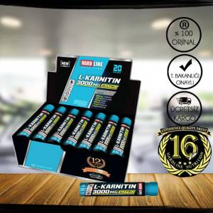 Hardline L-Karnitin Matrix 3000Mg 20Ampül l carnitine
