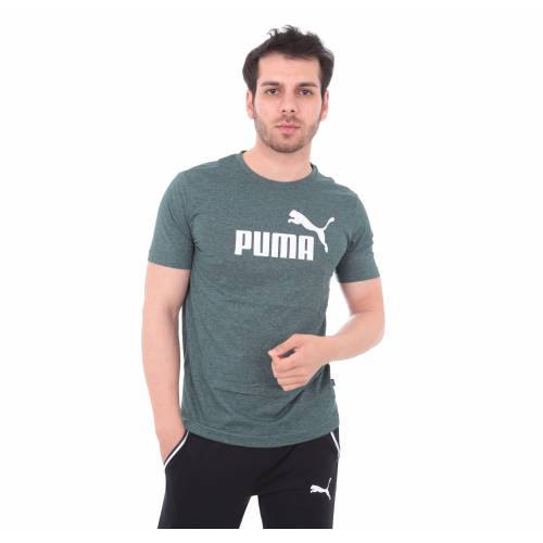 852419-30 Puma Essentials Heather Tee Erkek T-Shirt Gri 433411322