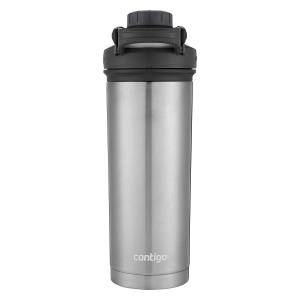 Contigo Vacuum-Insulated Shake and Go Fit Stainless Steel Shaker Bottle 24 oz GreyBlack 720 ML