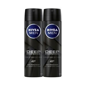 NİVEA MEN DEEP DIMENSION SPREY DEODORANT ERKEK 150ML 2li AVANTAJ PAKETİ