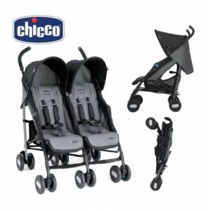 Chıcco Echo Twin Baston Ikız Bebek Arabası  Coal