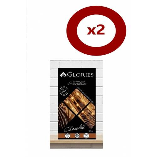 Glories Citir Parcali Sutlu Çikolata 50 Gr 2li Set 435019644