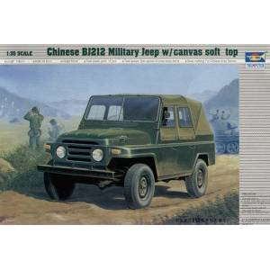 TRUMPETER 2302 135 CHINESE BJ 212MİLİTARY JEEP WCANVAS SOF