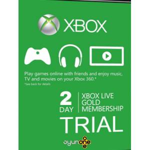 XBox Live Gold 2 Days Trial Subscription Gift Card - Fast delivery Hemen Teslim