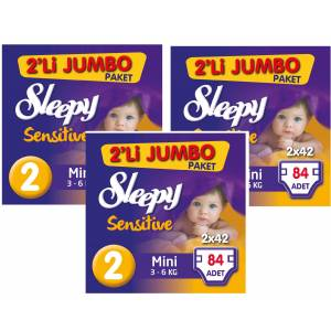 Sleepy 2 No Mini Jumbo (3-6kg) 3 lü Pk 84x3252 Adet
