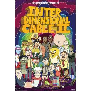 Pyramid International Maxi Poster Rick And Morty Stars Of Interdimensional Cable