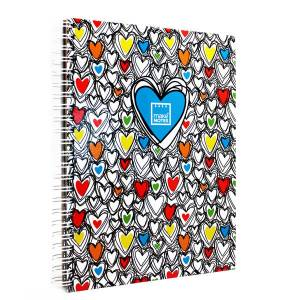 Makenotes Colorful Hearts A4 Not Defteri Mn-Mot39-A4