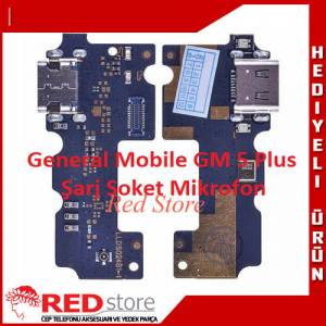 General Mobile GM 5 Plus Şarz Soket Mikrofon