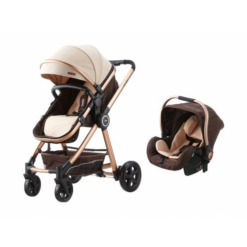 Baby2Go 8034 Power Gold Travel Sistem Bebek Arabası - Krem