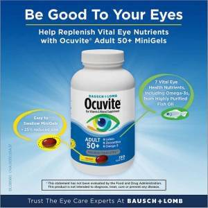 Ocuvite perfect eyes 50 150 Softgels  Made in USA