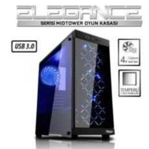 Power BOOST VK-G1006B  ATX USB 3.0 TEMPERED GLASS