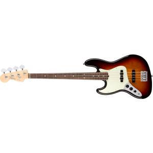 Fender American Professional Jazz Bass Left-Hand 3-Color Sunburst - Rosewood Solak Bas Gitar
