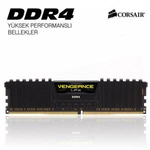 Corsair 8GB Vengeance LPX Siyah DDR4 2400MHz CL16 Ram
