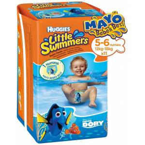 HUGGIES LİTTLE SWIMMERS MAYO BEZ NO:5-6 12-18KG TEKLİ PK İÇ ADET 11
