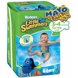 HUGGIES LİTTLE SWIMMERS MAYO BEZ NO:3-4 7-15KG TEKLİ PK İÇ ADET 12