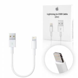 Apple Lightning 25cm Kablo Powerbank ve İphone 5-6-6S-7 Plus-8-X Şarj Data Kablosu