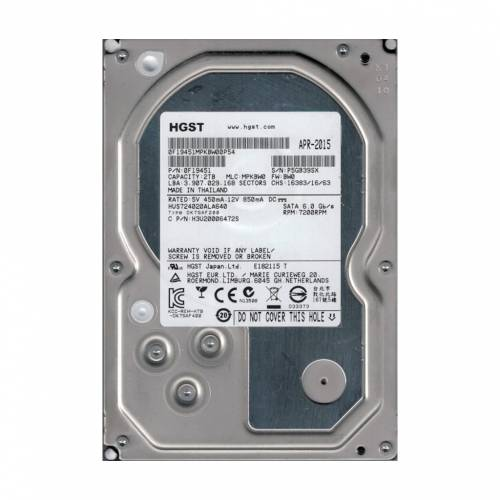 Hitachi Ultrastar 2TB 7200RPM 64MB Cache SATA 6Gbs 3.5 HDD 442924989