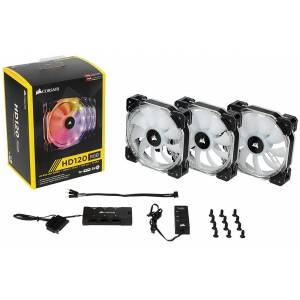 CORSAIR HD120 YÜKSEK PERFORMANSLI 3 LÜ RGB PWM LED FAN VE KONTROL ÜNİTESİ