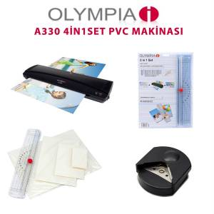 Olympia A330S A3 Laminasyon Makinesi 4in1 Set