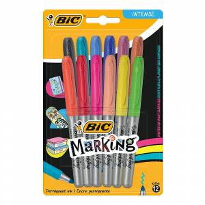 Bic Marking Color 12 li Blister 961442