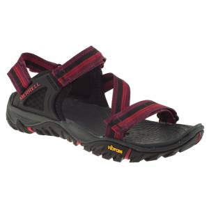 Merrell J37610 All Out Blaze Web Bordo Kadın Sandalet