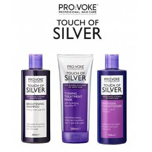 Provoke Silver ŞampuanMaske ve Saç Kremi 200 ml 3 lü Set