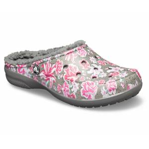 Crocs Freesail Graphic Kışlık Terlik Multi Floral  Slate Grey Desenli Cr00283