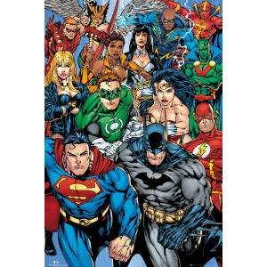 DC COMICS COLLAGE MAXI POSTER İTHAL