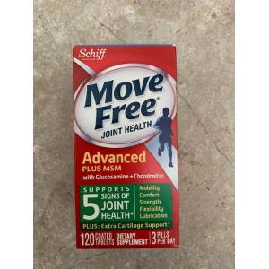 MOVE FREE JOINT HEALTH ADVANCED PLUS MSM