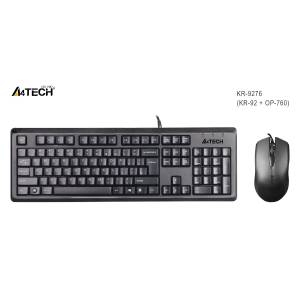 A4 Tech Kr-9276 Q Usb Stnd KlavyeOptik Mouse Set Kablolu Set