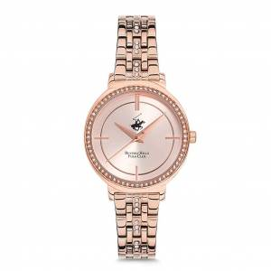BEVERLY HILLS POLO CLUB BH9569-04 ROSE GOLD TAŞLI BAYAN KOL SAATİ